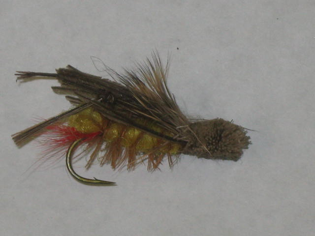 daves hopper trout fly pattern works great on large browns