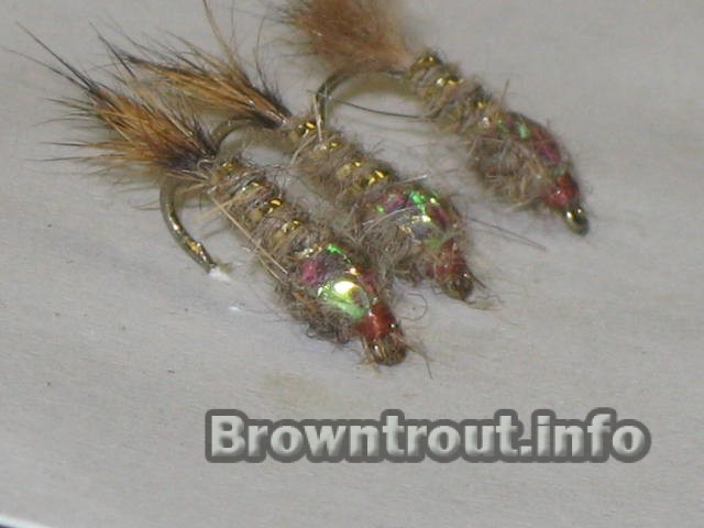 Nymph patterns, Fly fishing for trout.