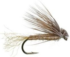 X caddis A version of the Elk hair caddis. It just has a poly tail and body to make it float better than the standard elk hair caddis.