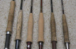 A small collection of fly rods.