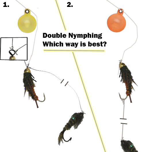 double fly fishing rig for nymphs, streamers and dry flies - rigging, Fly Fishing Bait