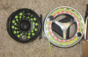Different fly fishing reel types