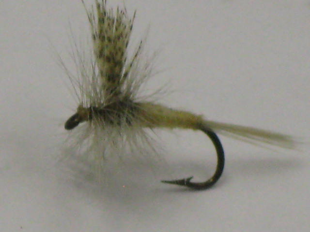 Dry flies for trout. The Light cahill Side view.