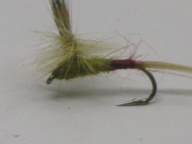 Yellow Sally Parachute dry fly.