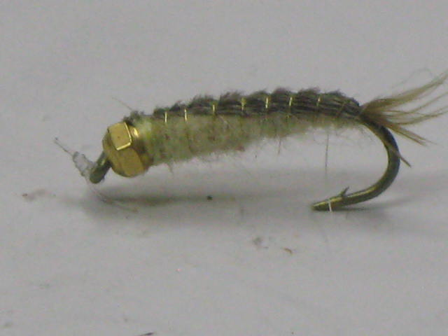 A heavy bead head Crane Fly Patter for Trout Fishing.