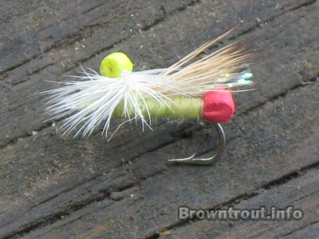Yellow sally dry fly pattern with Foam backside and elk hair wings
