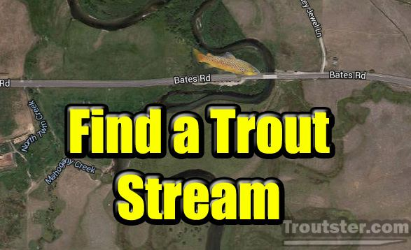 Interactive trout stream maps