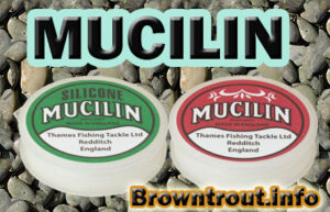 Mucilin Fly Floatant, used for floating dry flies for fly fishing, fly-agra floatant