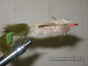 The Finished Deer hair mouse fly