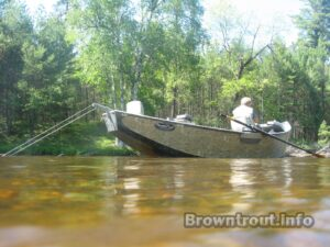 Trout fishing the Ausable in Michigan.