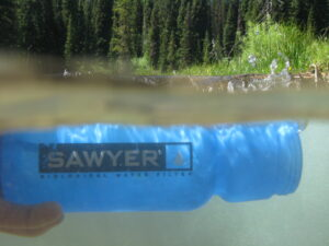Using the 4 way sawyer water filter on a hiking and fishing trip.