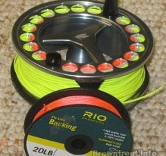 Backing for fly reel and line