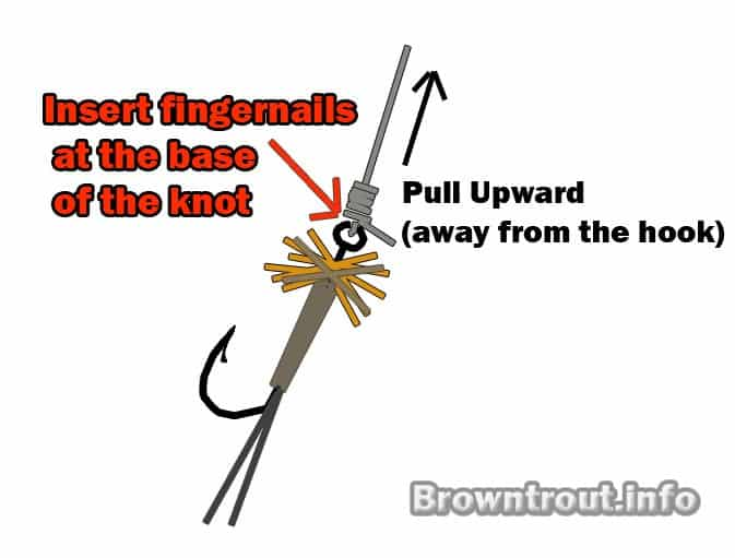 how to remove the clinch knot without cutting the line, cinch knot, how to a tie a cinch knot, clinch knot, how to tie a clinch knot