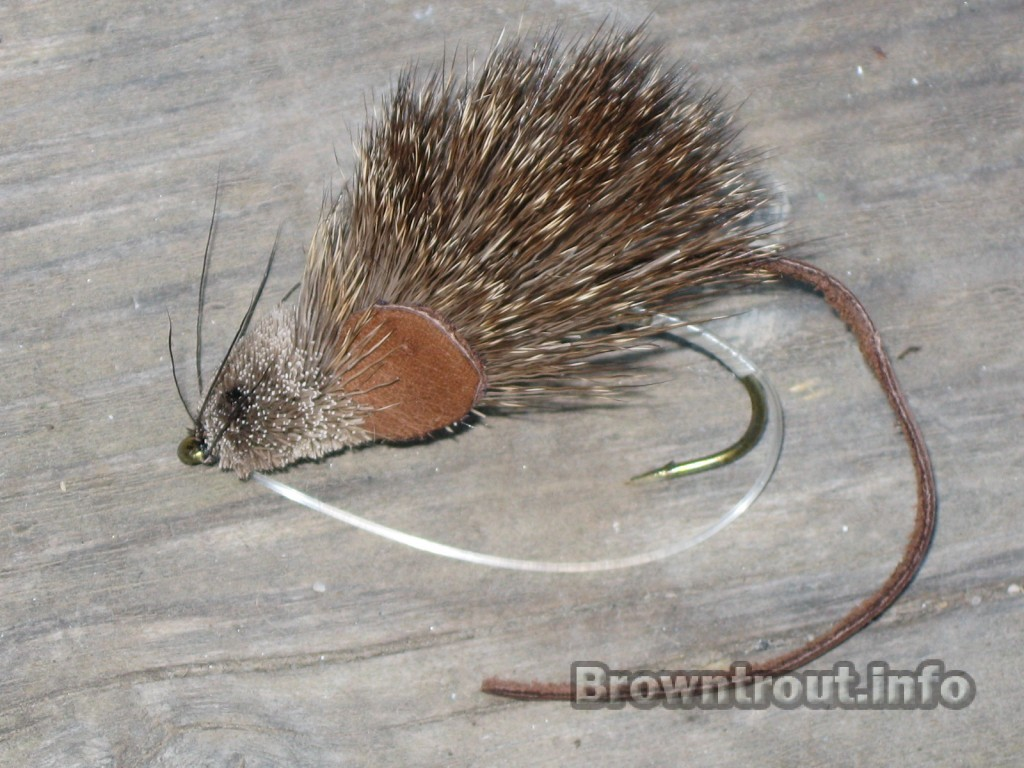 Mouse rat fly for night fishing trout