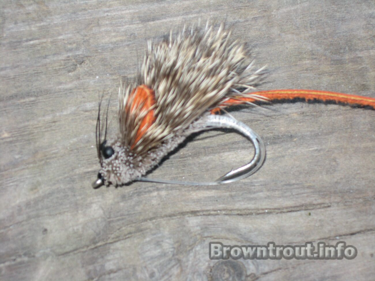 Mini mouse pattern with leather tail and ears, The best Mouse fly patterns for fly fishing trout at night, streamer fly patterns, streamer flies for trout, mice tails for trout, trout streamer patterns