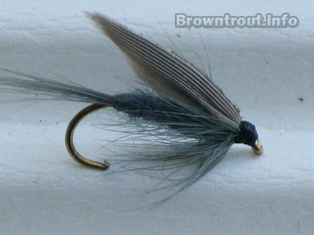 Blue dun wet fly pattern
