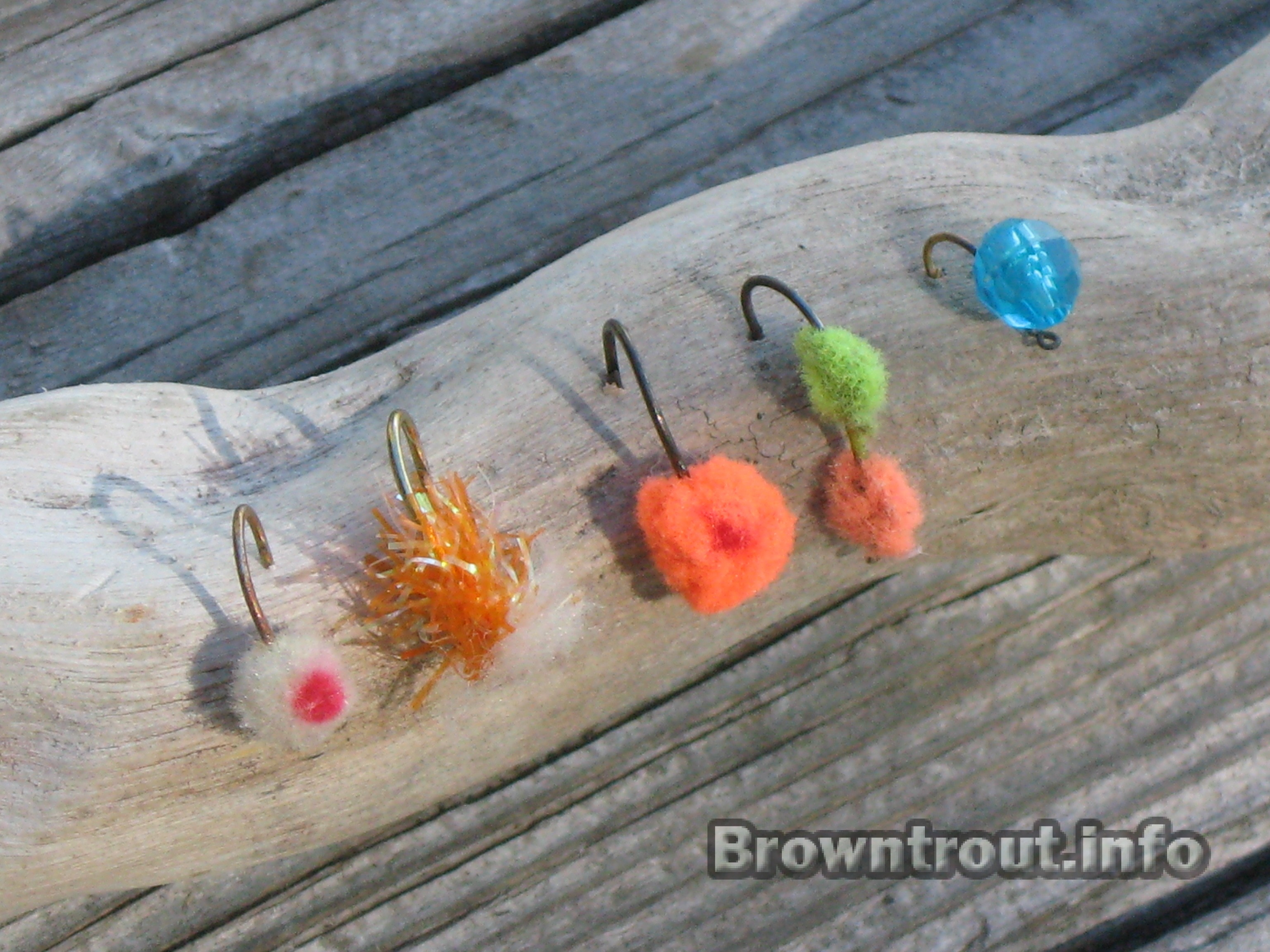 fishing for spawning brown trout and pre-spawn flyfishing tactics, Fly Fishing Bait