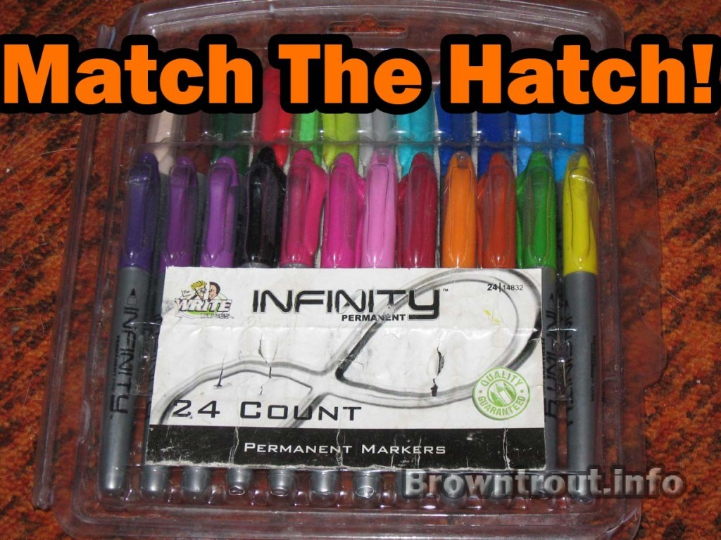 Permanent Markers to color your trout flies
