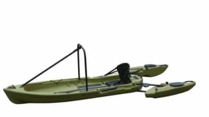 Stable fly fishing kayak