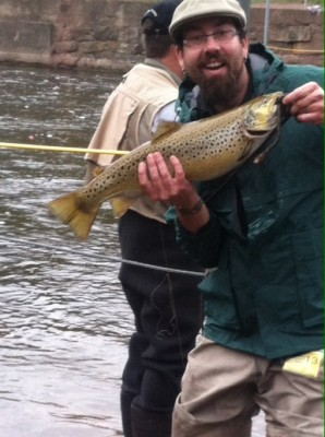 Fat Brown Trout Caught in NY
