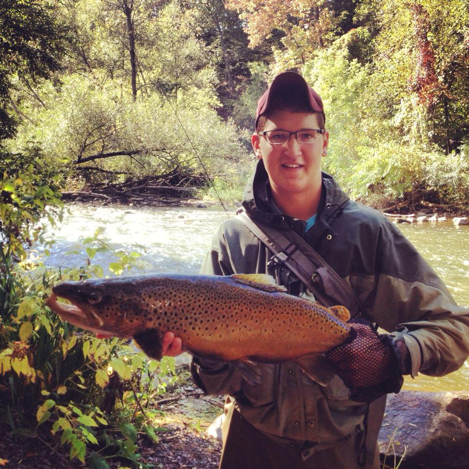 Aarom Stolinski with a nice August Brown trout