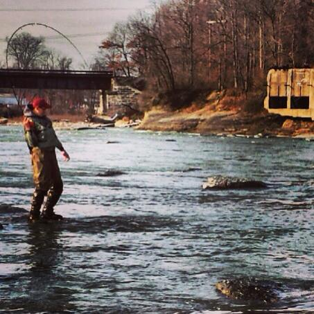 Aaron Stolinski Fighting a brown trout