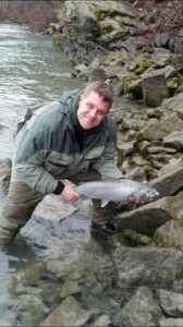 CHad Michaelz With a Nice brown trout