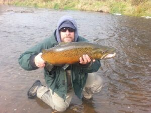 Dave Shaw with a pure pig of a Brown Trout!