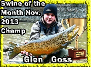 Huge Brown Trout Caught by Glen Goss