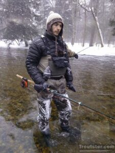Chris Cornetet winter trout fishing