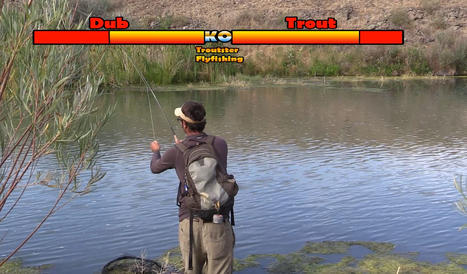 Fighting a brown trout - Video game style