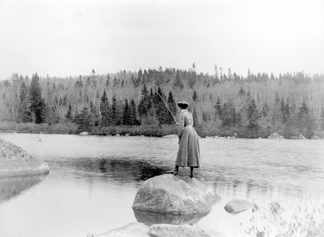 Fly fishing in Nova Scotia circa 1900
