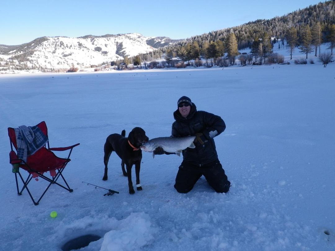 How to ice fish for lake trout for Ice fishing videos