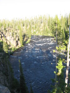 The Lewis river in the southern part of Yellowstone park