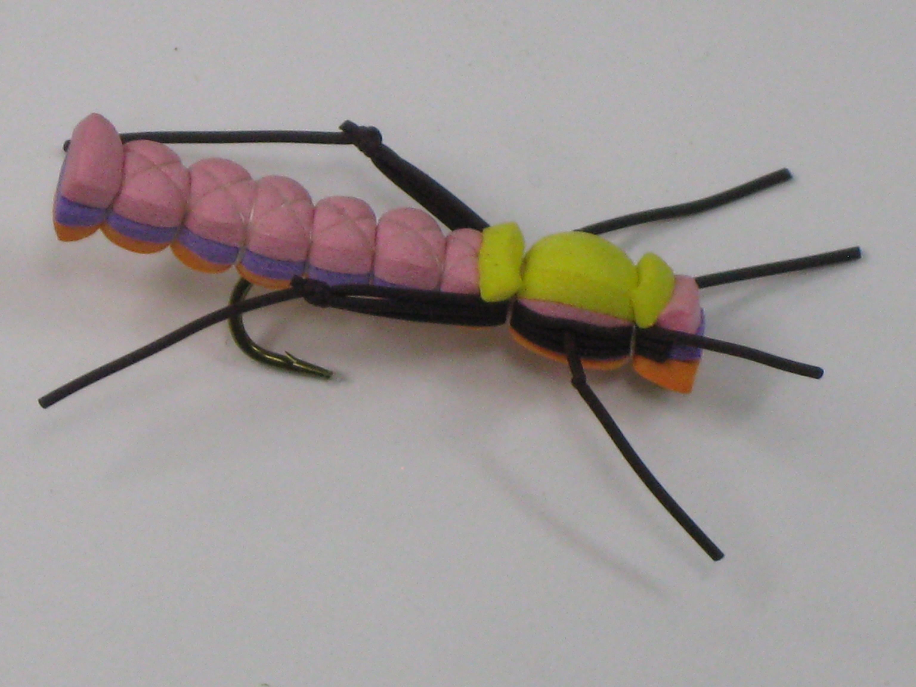 A great looking fly called the triple decker hopper. Made from 3 layers of foam.