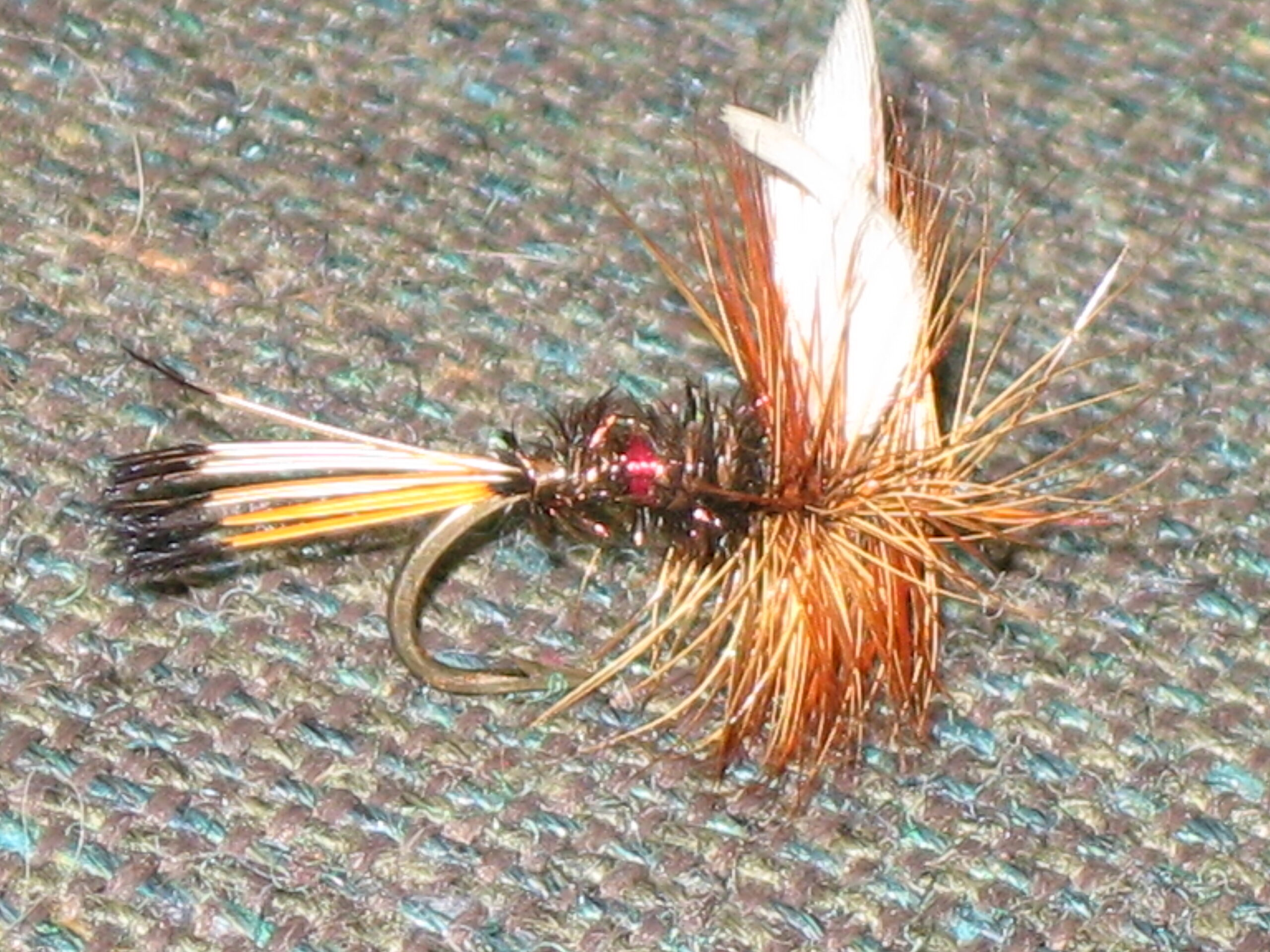 Hand tied Royal Coachman fly pattern