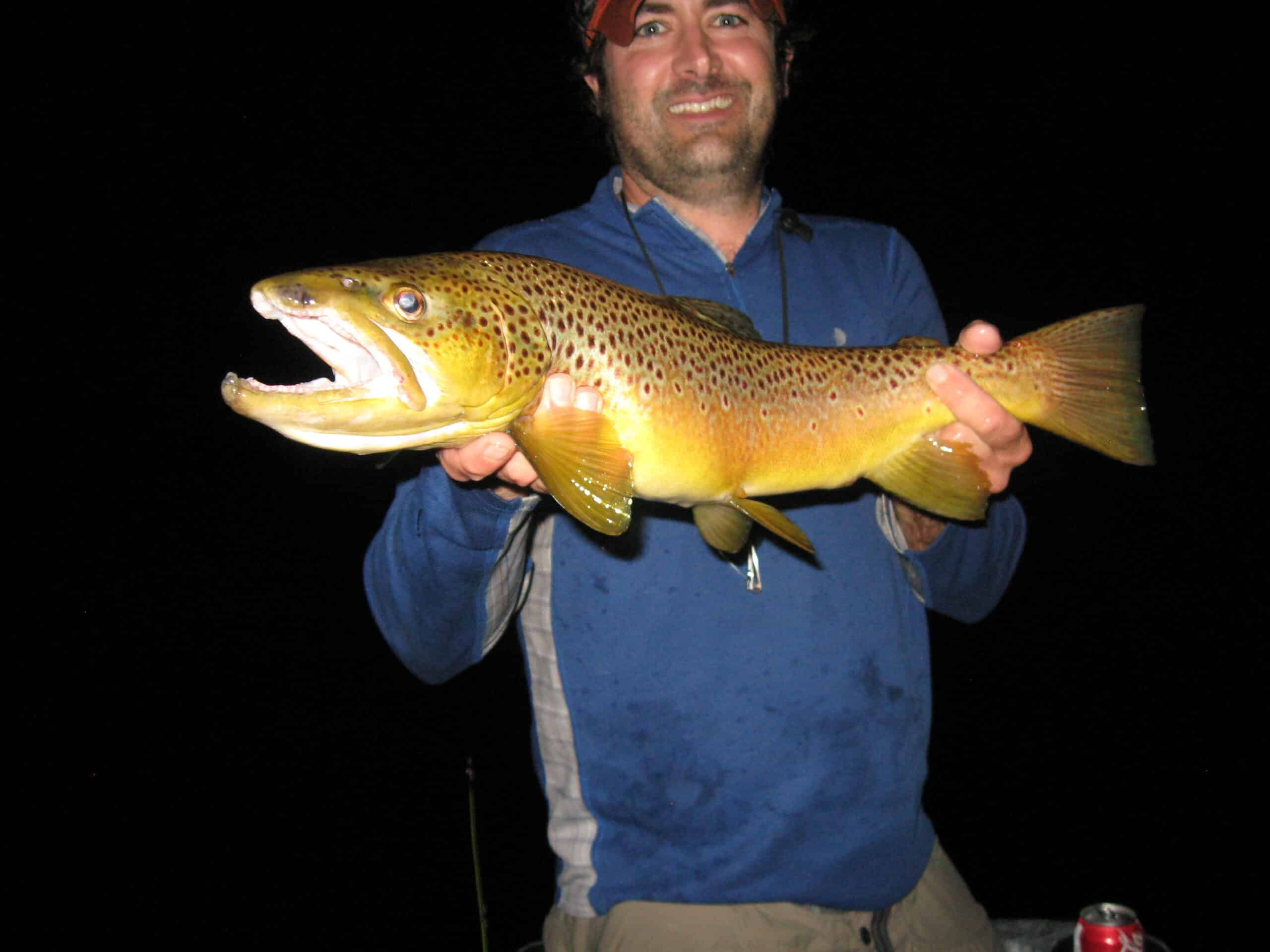 This large fish was caught during the hex hatch in June of 2014. A 24 or 25 inch brown trout.