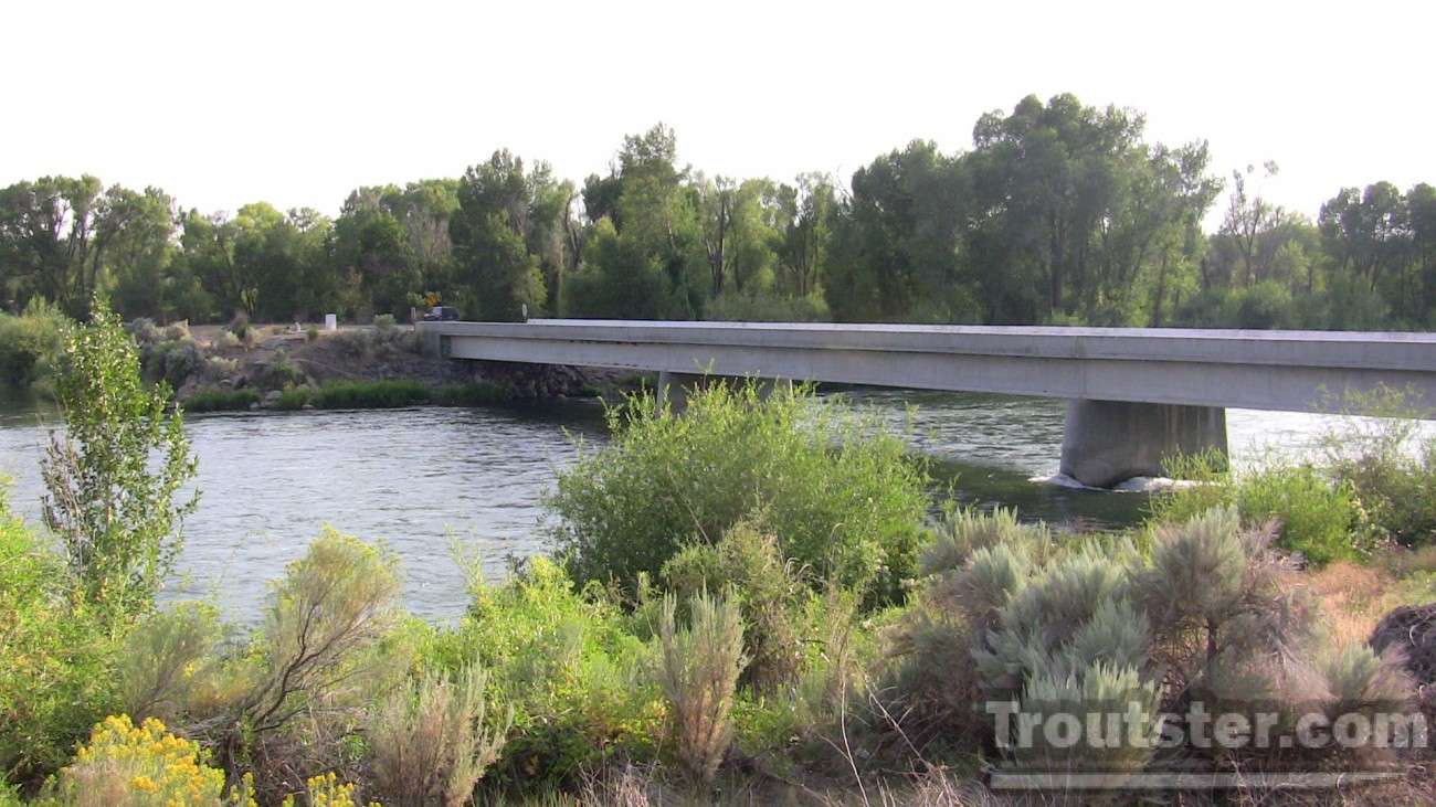 Heise bridge boat launch on the South Fork of the Snake river in Heise Idaho, snake river boat launches, snake river boat launch map