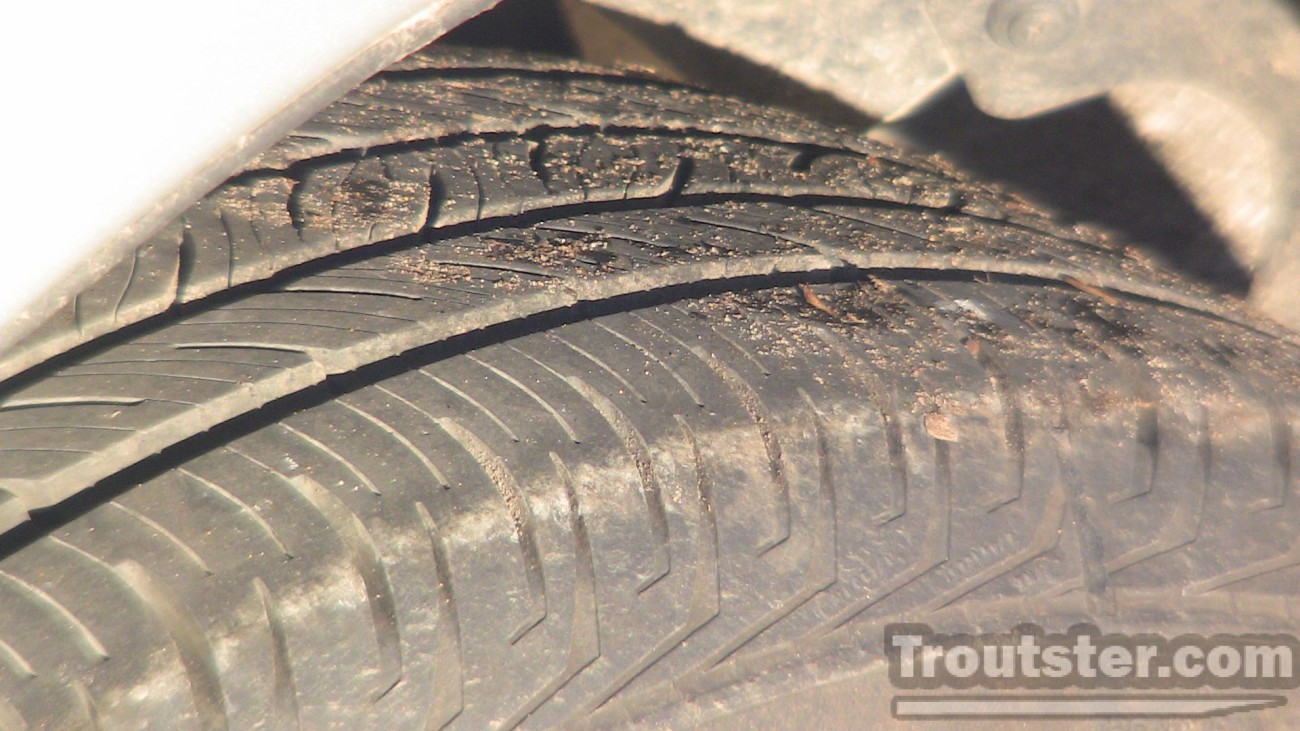 Lots of tire tread on this subaru for sale in central Michigan