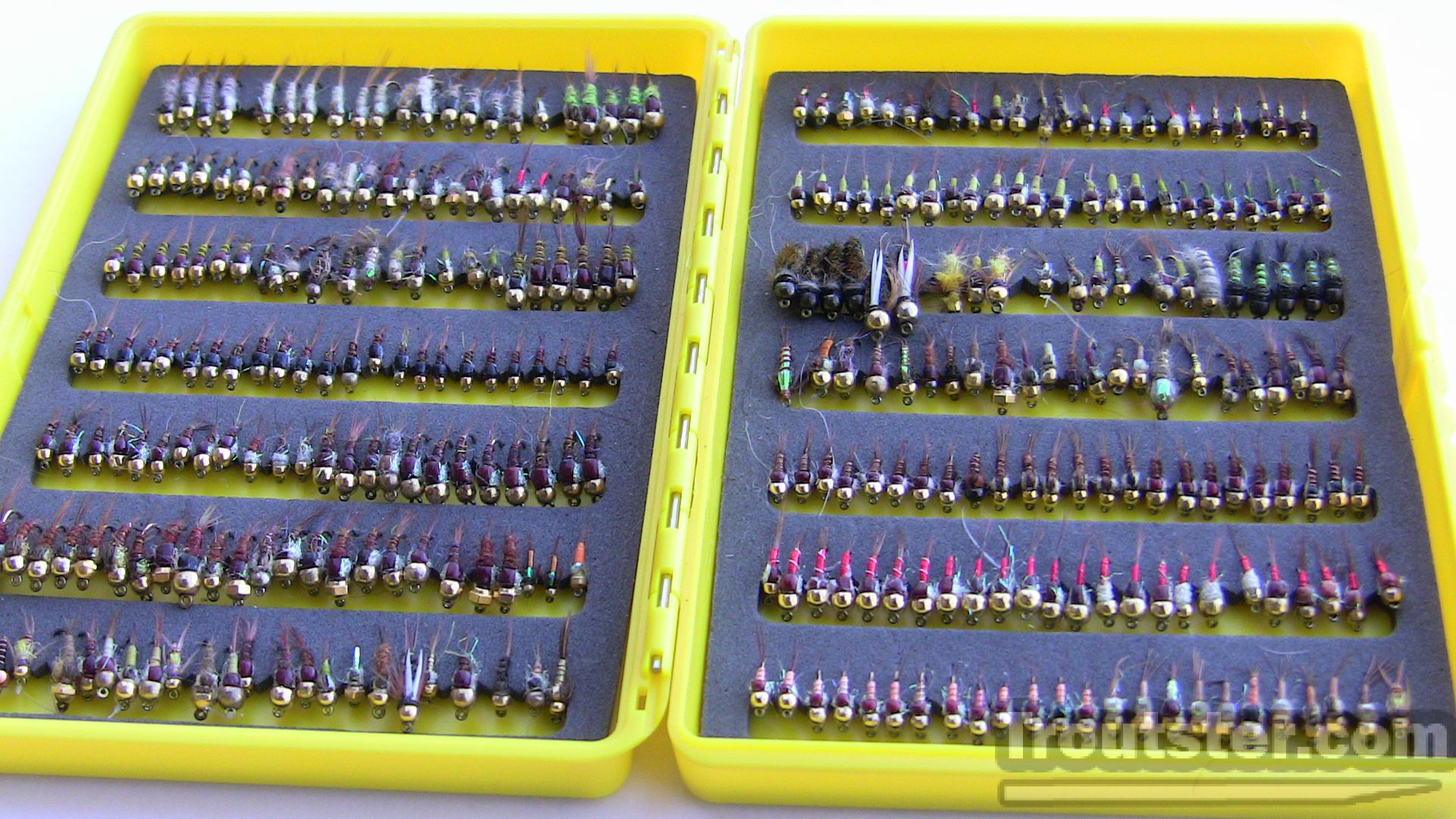 Super slender fly box is good for nymphs