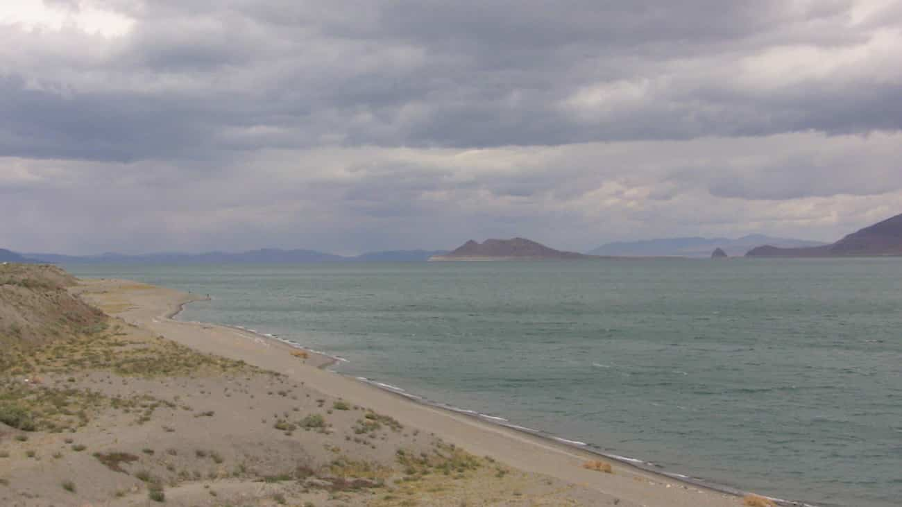 Pyramid lake NV, home of the world record cutthroat