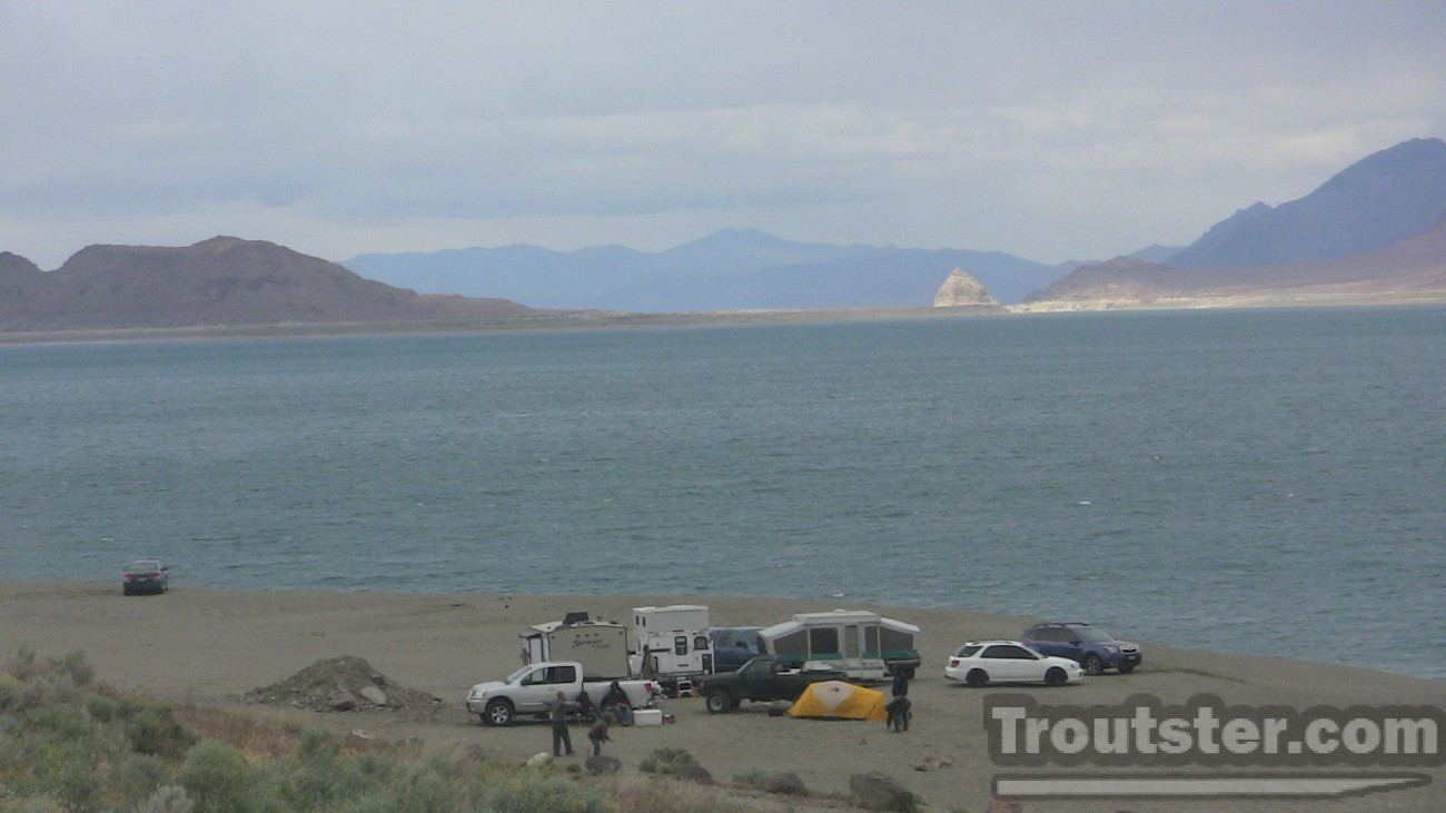 Camping on Pyramid lake like a trout bum