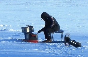 Ice fishing for lake trout in MN