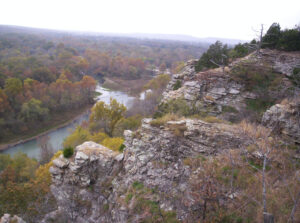 The Illinois river in Oklahoma has great trout fishing.