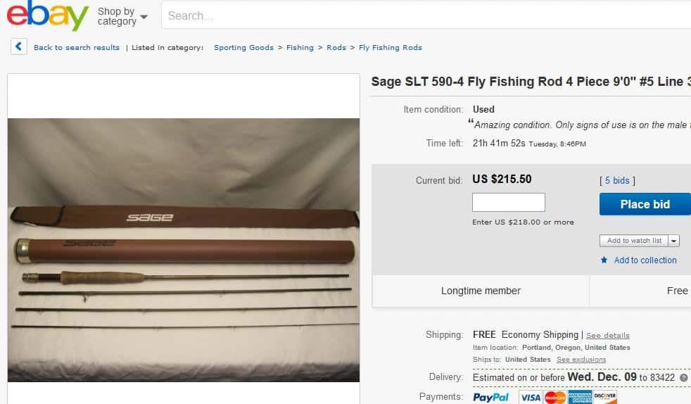 Sage rod for sale on ebay deeply discounted