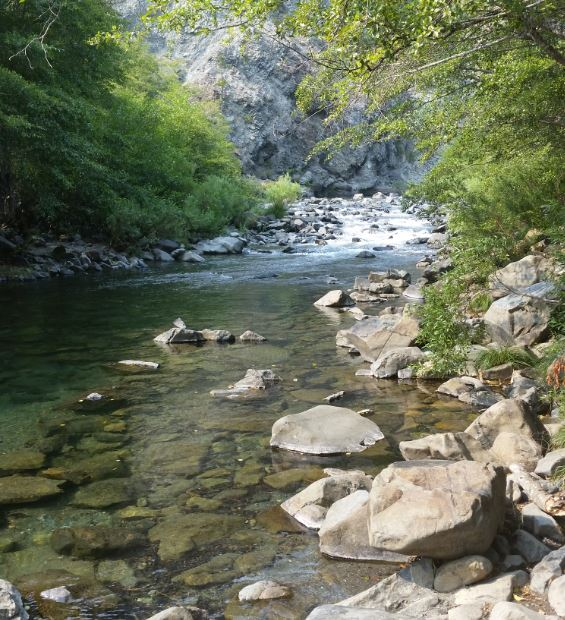 Smith river in Northern California