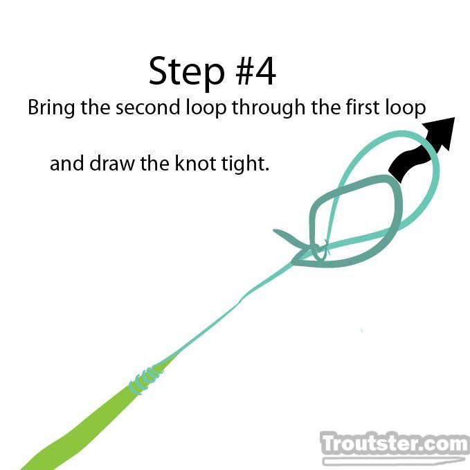 The final step to tying the perfection loop knot