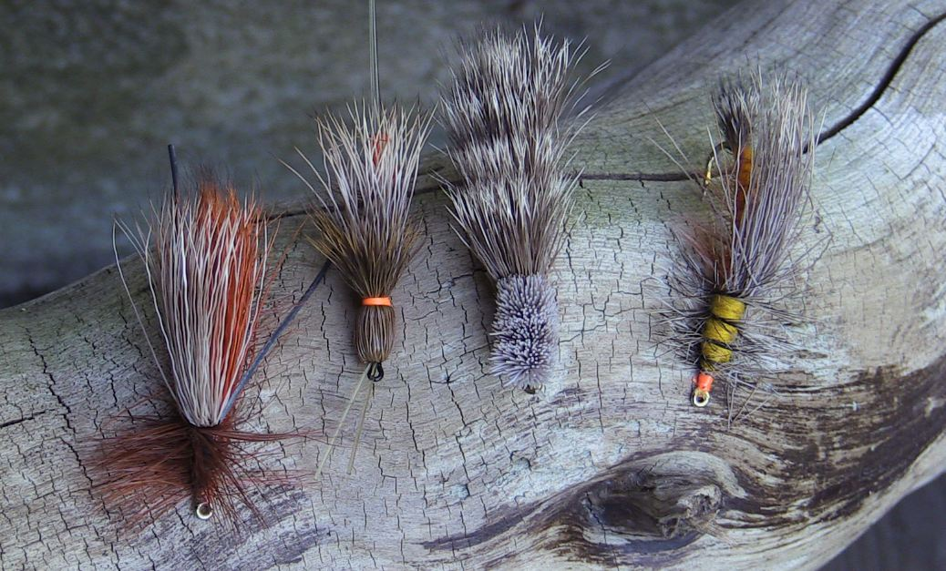 Various Salmonfly trout fly patterns