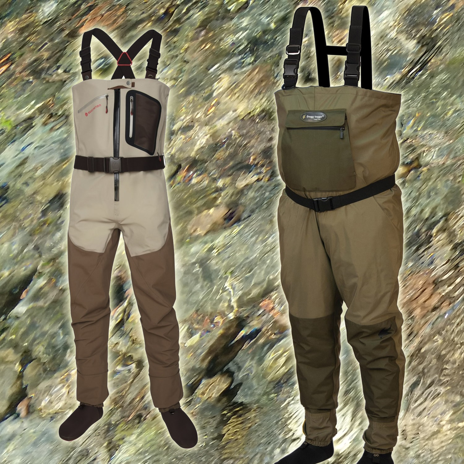 Waders suitable for the fly fisherman