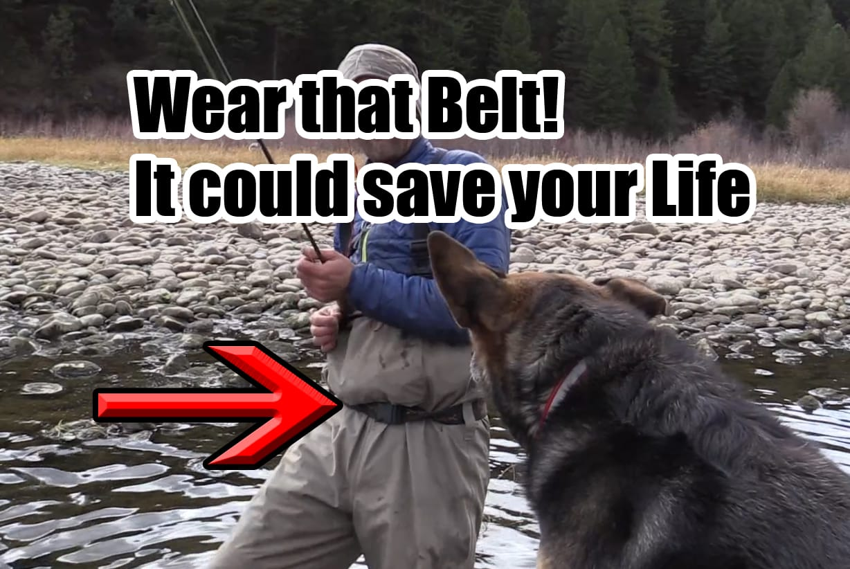 Wearing a wading belt could save your life, saltwater wading belts, womens wading belt, fly fishing wading belt